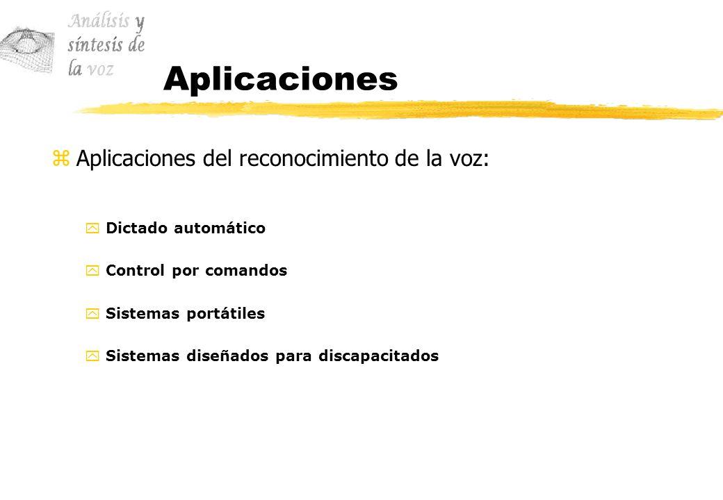 Aplicaciones Aplicaciones del reconocimiento de la voz: