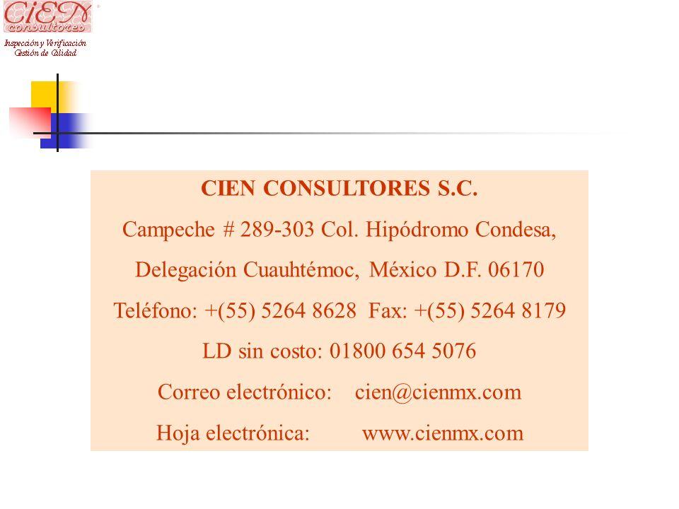Campeche # 289-303 Col. Hipódromo Condesa,