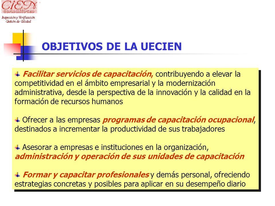 OBJETIVOS DE LA UECIEN