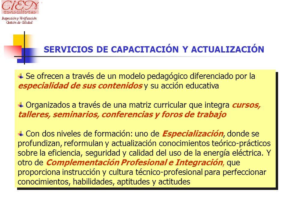 SERVICIOS DE CAPACITACIÓN Y ACTUALIZACIÓN