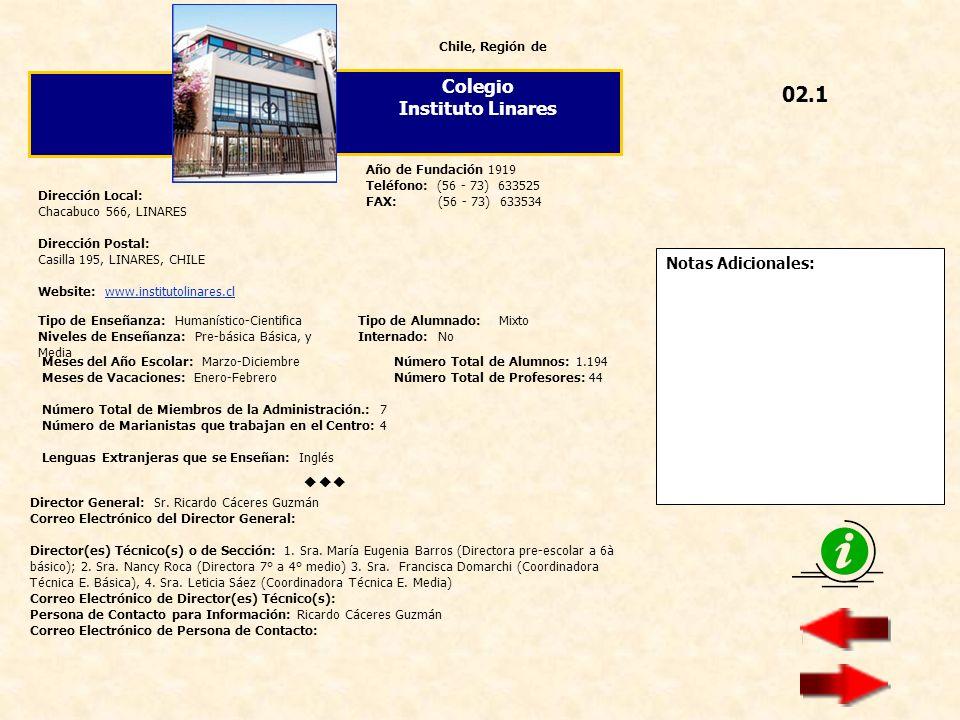 02.1 Colegio Instituto Linares  Notas Adicionales: Chile, Región de