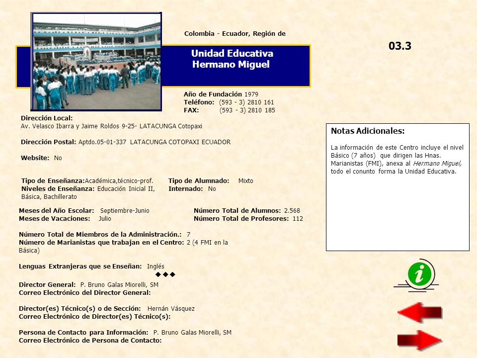Colombia - Ecuador, Región de