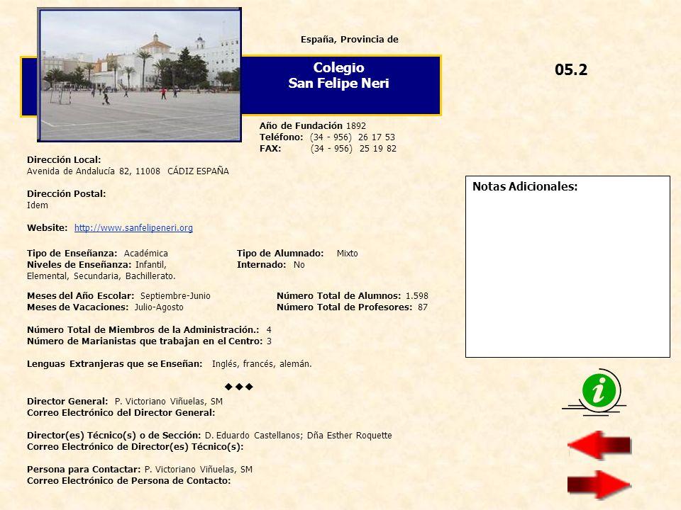 05.2 Colegio San Felipe Neri  Notas Adicionales: