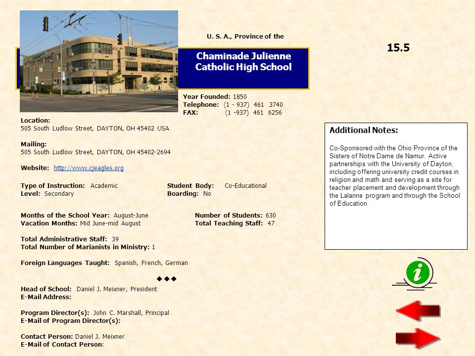 Chaminade Julienne Catholic High School