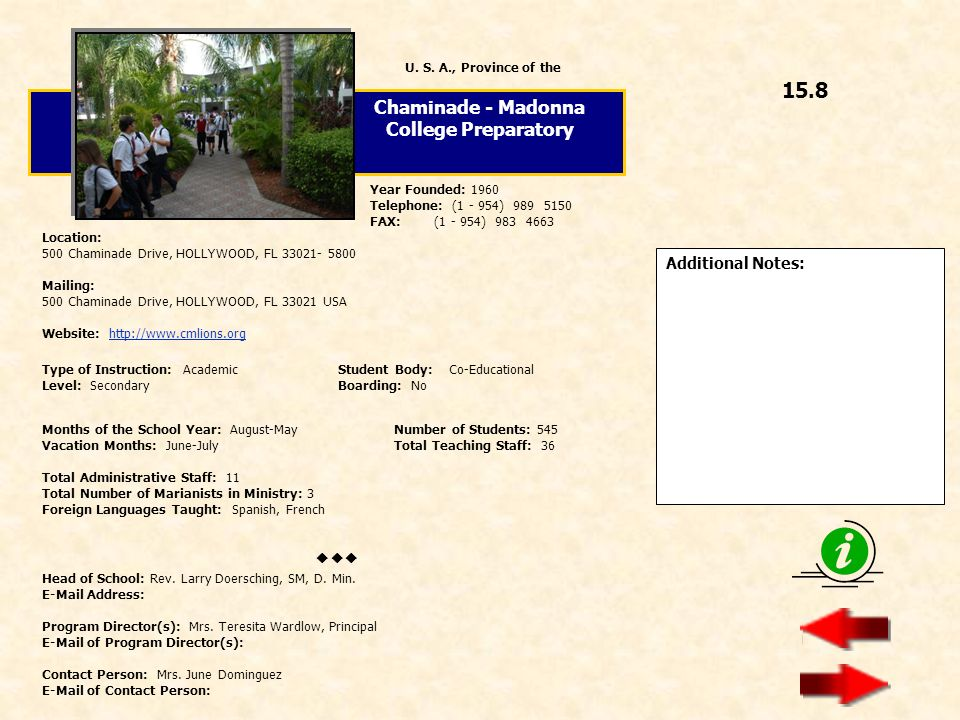 Chaminade - Madonna College Preparatory