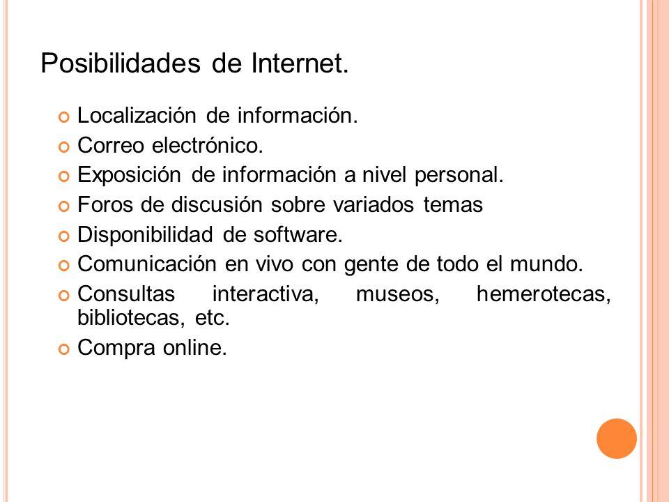 Posibilidades de Internet.