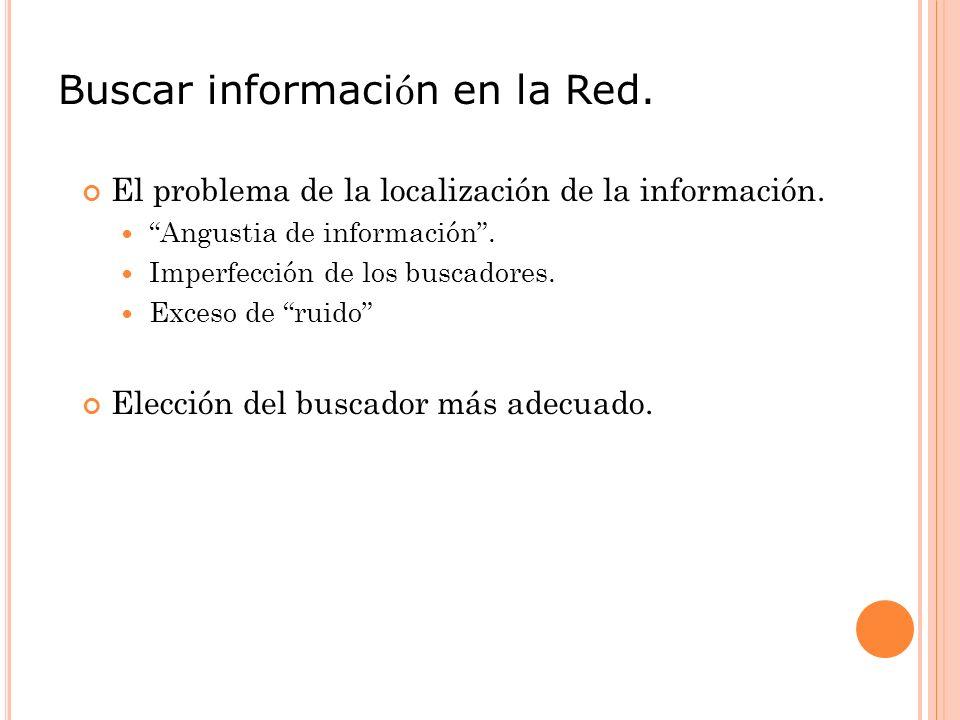 Buscar información en la Red.