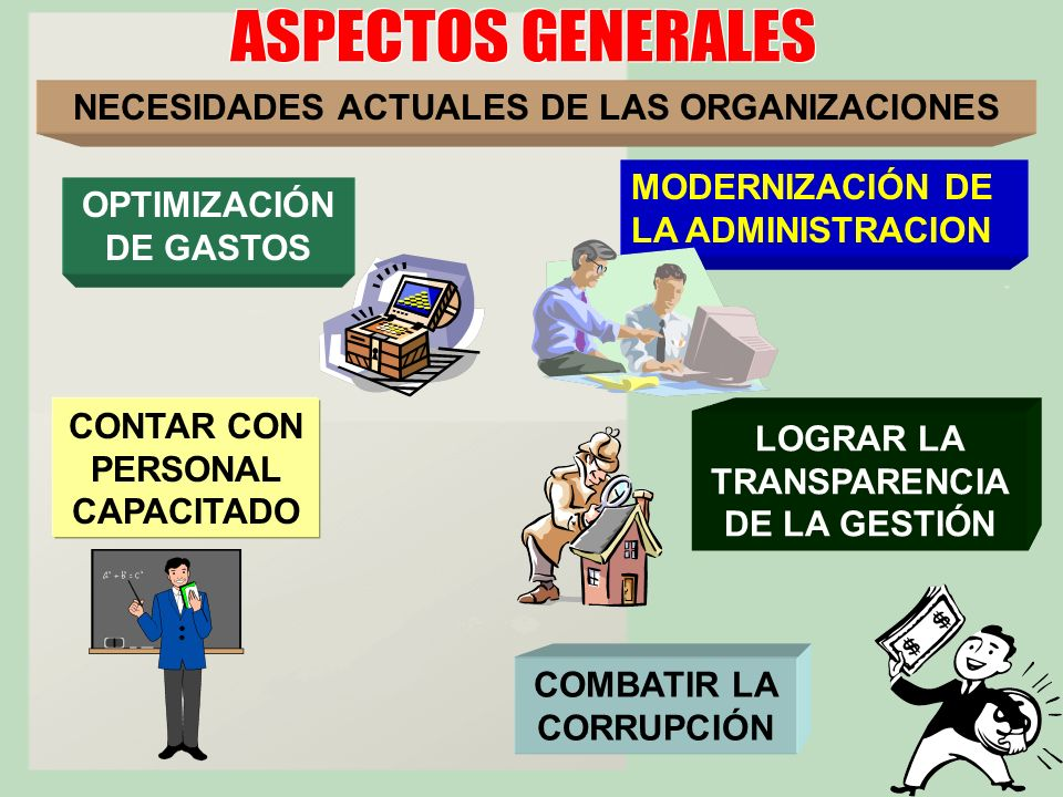 NECESIDADES ACTUALES DE LAS ORGANIZACIONES