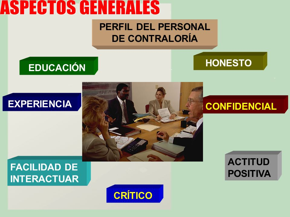 PERFIL DEL PERSONAL DE CONTRALORÍA