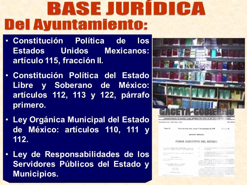 BASE JURÍDICA Del Ayuntamiento: