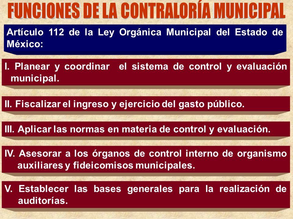FUNCIONES DE LA CONTRALORÍA MUNICIPAL