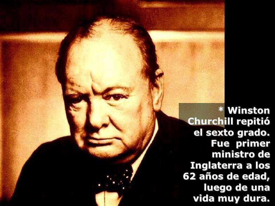 Winston Churchill repitió el sexto grado