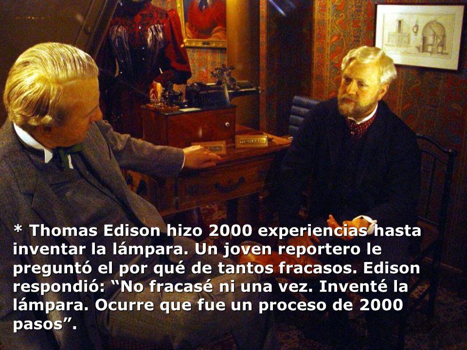 Thomas Edison hizo 2000 experiencias hasta inventar la lámpara