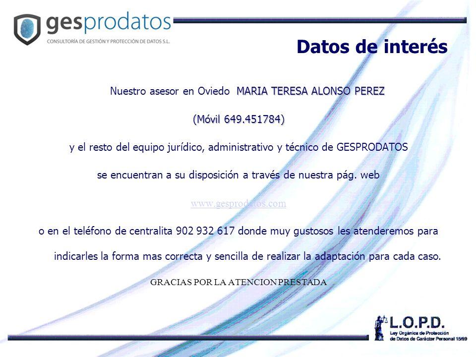 Datos de interés (Móvil 649.451784)