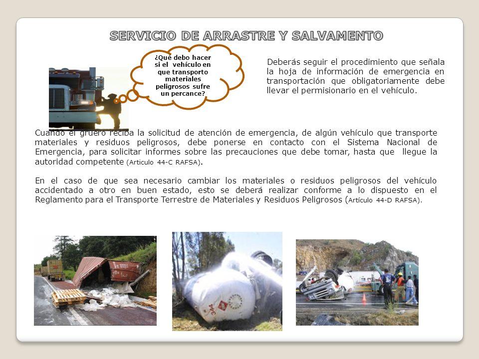 SERVICIO DE ARRASTRE Y SALVAMENTO