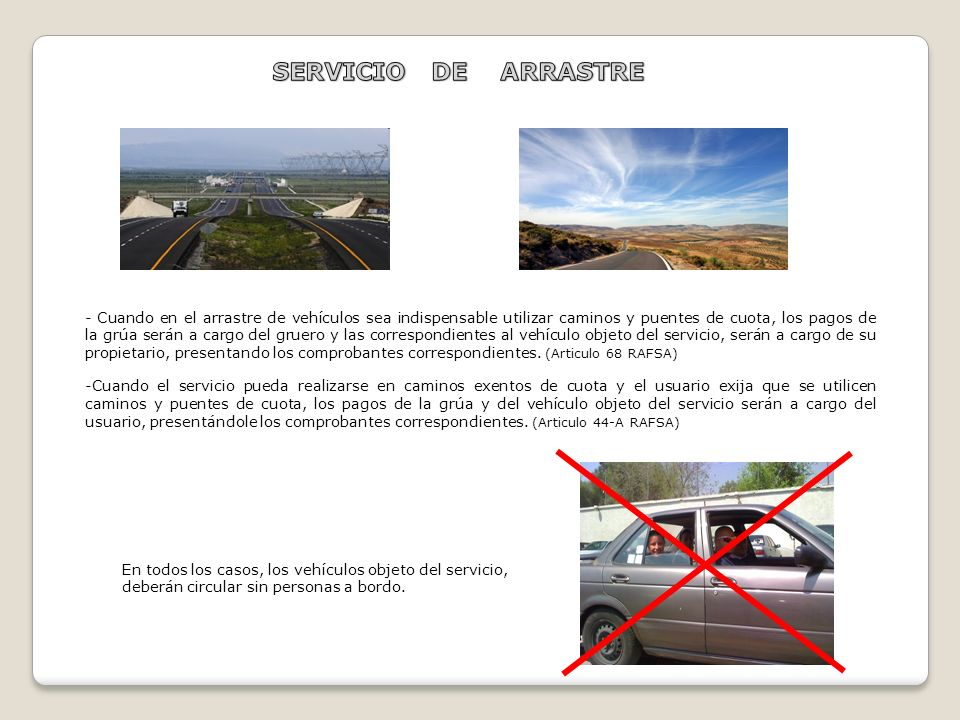 SERVICIO DE ARRASTRE