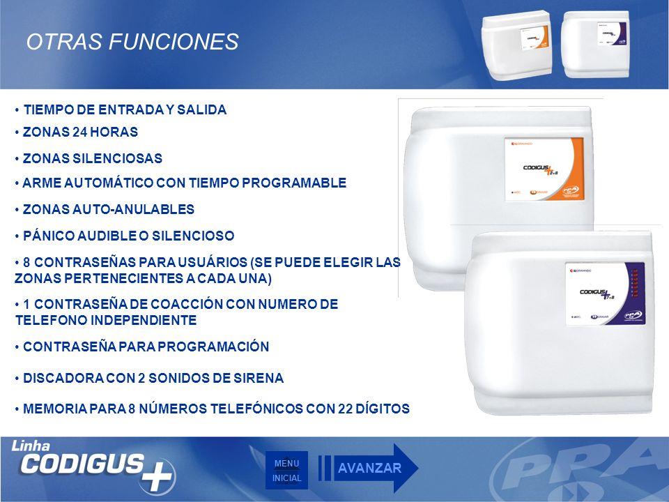 OTRAS FUNCIONES TIEMPO DE ENTRADA Y SALIDA ZONAS 24 HORAS