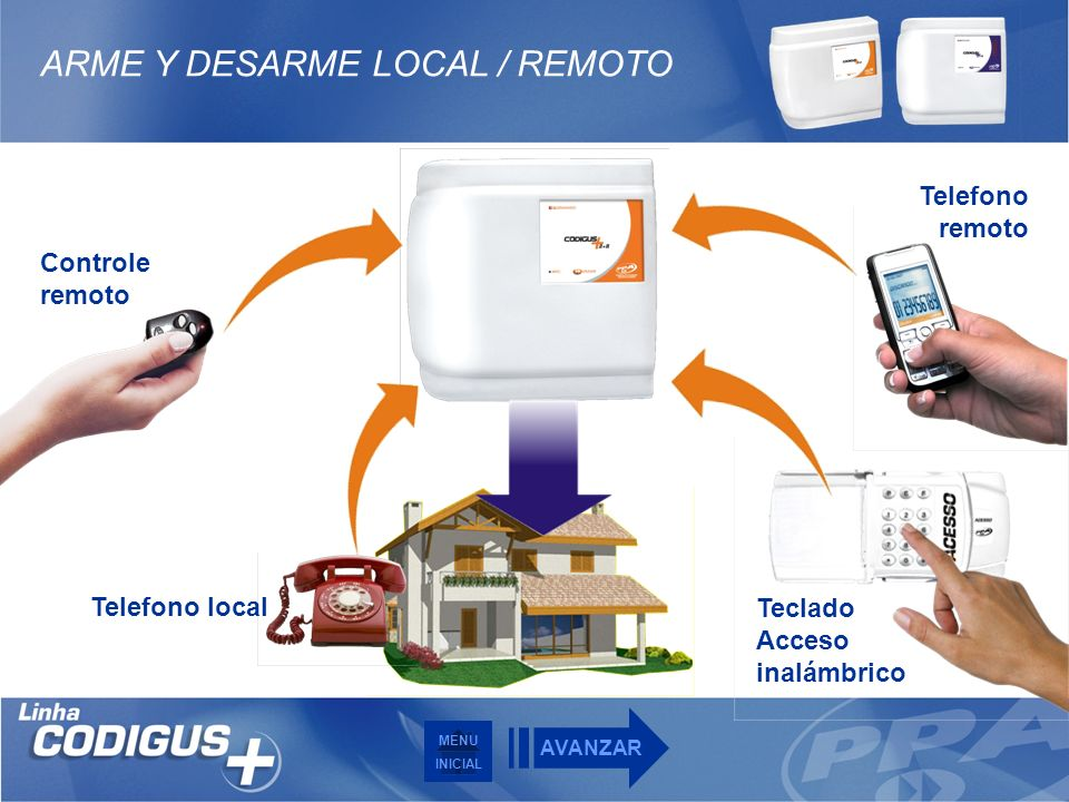 ARME Y DESARME LOCAL / REMOTO