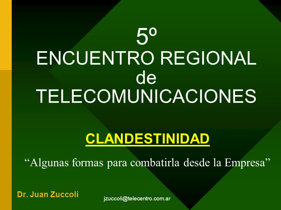 5º ENCUENTRO REGIONAL de TELECOMUNICACIONES