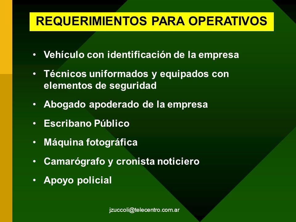 REQUERIMIENTOS PARA OPERATIVOS