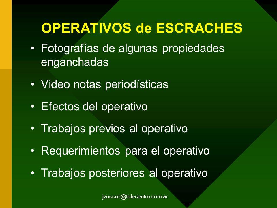 OPERATIVOS de ESCRACHES