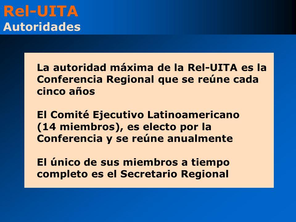Rel-UITA Autoridades La autoridad máxima de la Rel-UITA es la Conferencia Regional que se reúne cada cinco años.