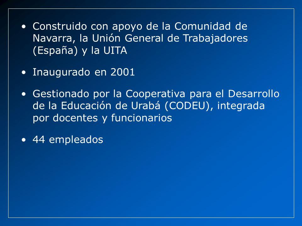 Construido con apoyo de la Comunidad de Navarra, la Unión General de Trabajadores (España) y la UITA