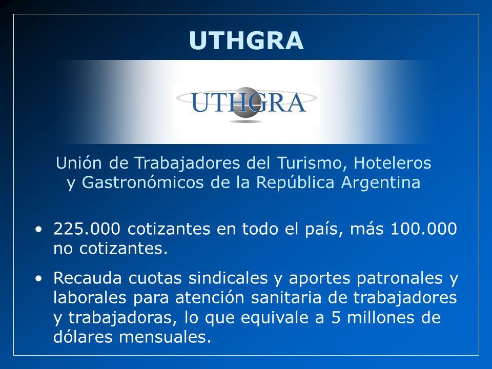 UTHGRA Unión de Trabajadores del Turismo, Hoteleros y Gastronómicos de la República Argentina.