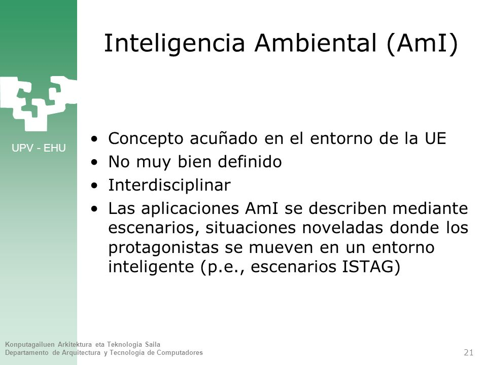 Inteligencia Ambiental (AmI)