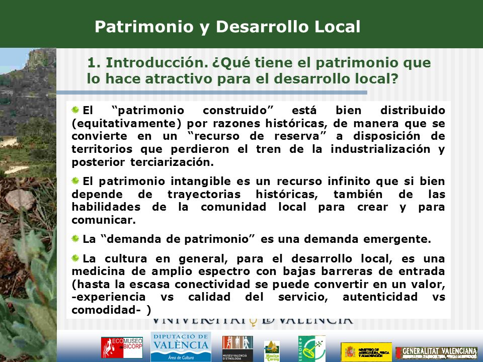 Patrimonio y Desarrollo Local