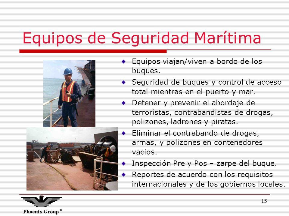 Equipos de Seguridad Marítima