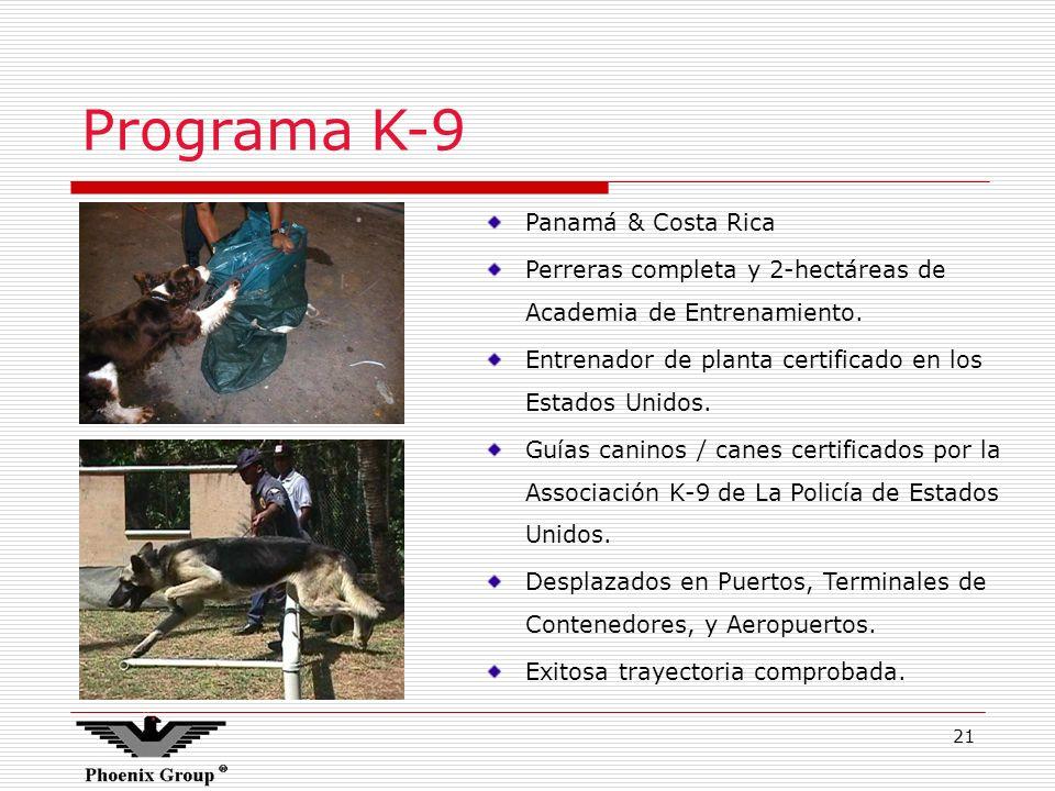 Programa K-9 Panamá & Costa Rica