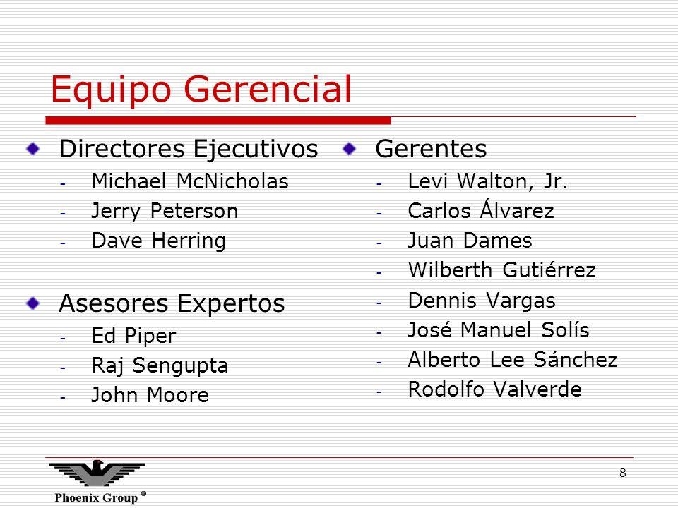 Equipo Gerencial Directores Ejecutivos Asesores Expertos Gerentes