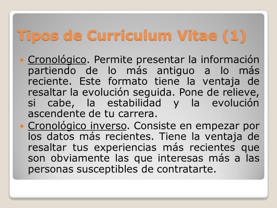 Tipos de Curriculum Vitae (1)