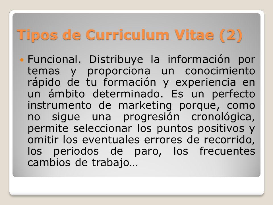 Tipos de Curriculum Vitae (2)