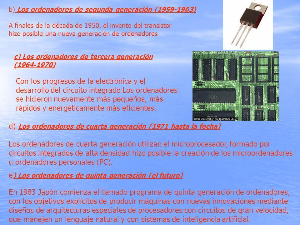 d) Los ordenadores de cuarta generación (1971 hasta la fecha)