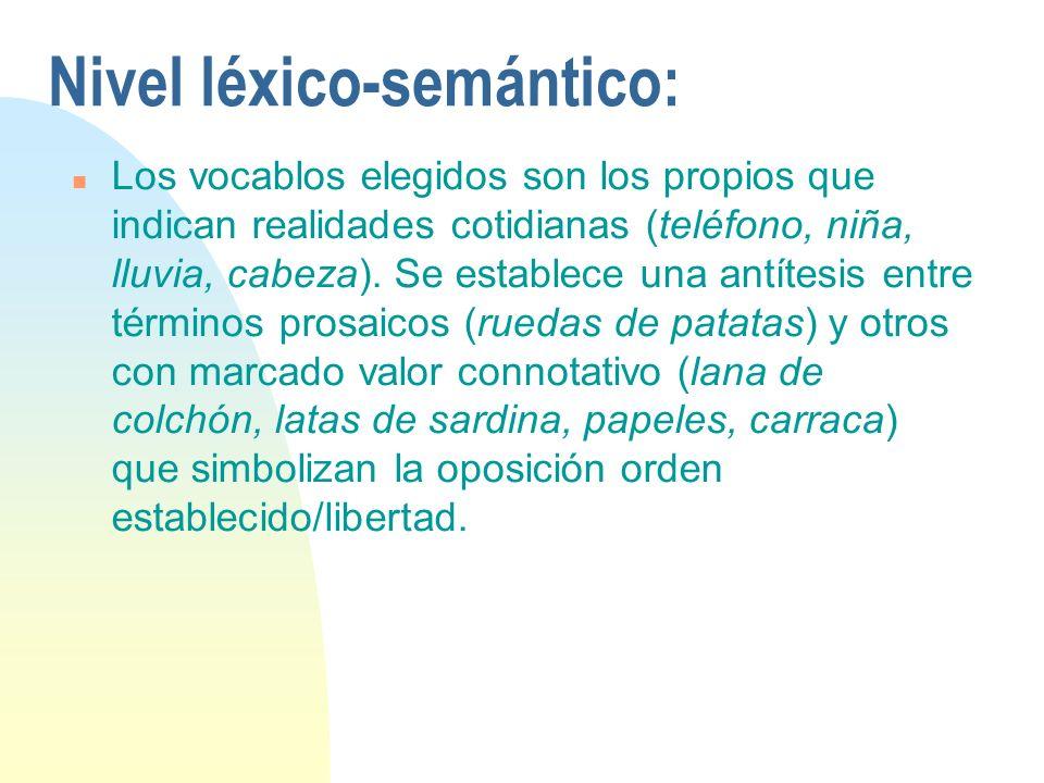 Nivel léxico-semántico: