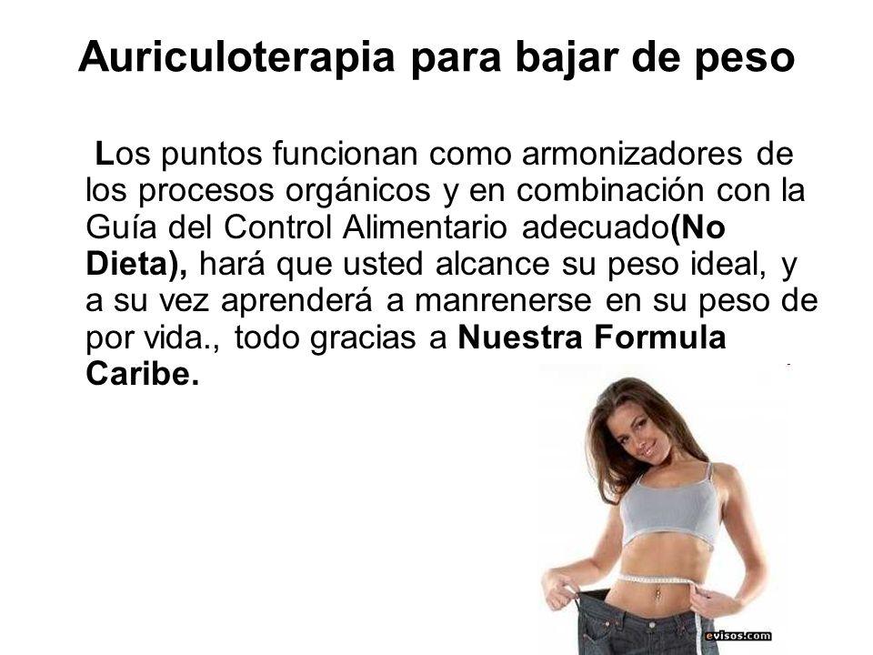 Auriculoterapia para bajar de peso