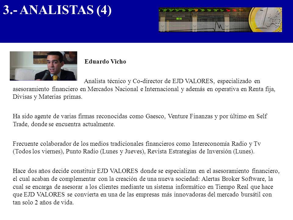 3.- ANALISTAS (4) .................................... Eduardo Vicho