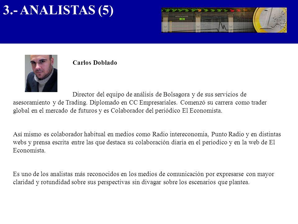 3.- ANALISTAS (5) .................................... Carlos Doblado
