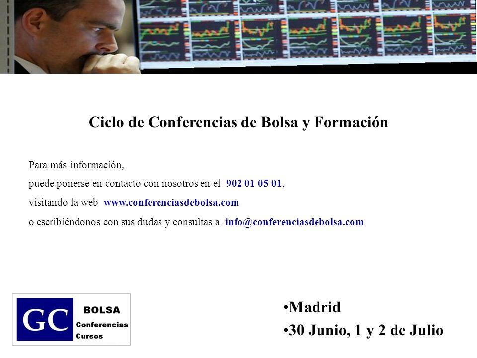 Ciclo de Conferencias de Bolsa y Formación