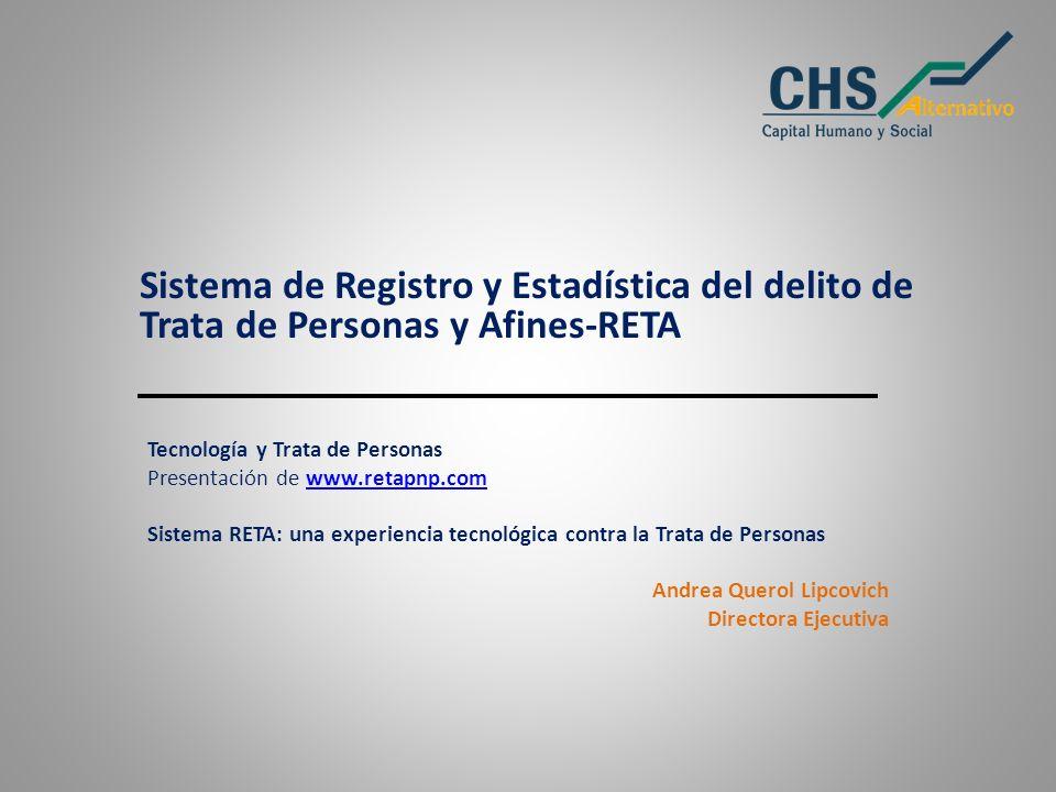 Sistema de Registro y Estadística del delito de Trata de Personas y Afines-RETA