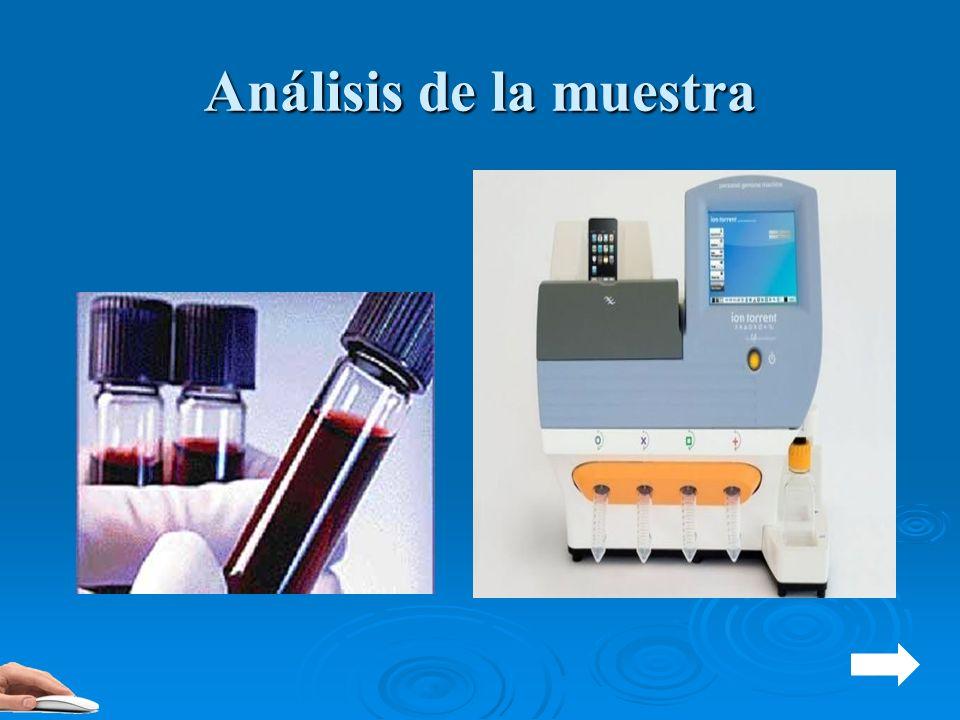 Análisis de la muestra