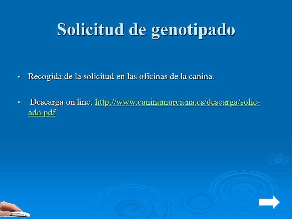 Solicitud de genotipado