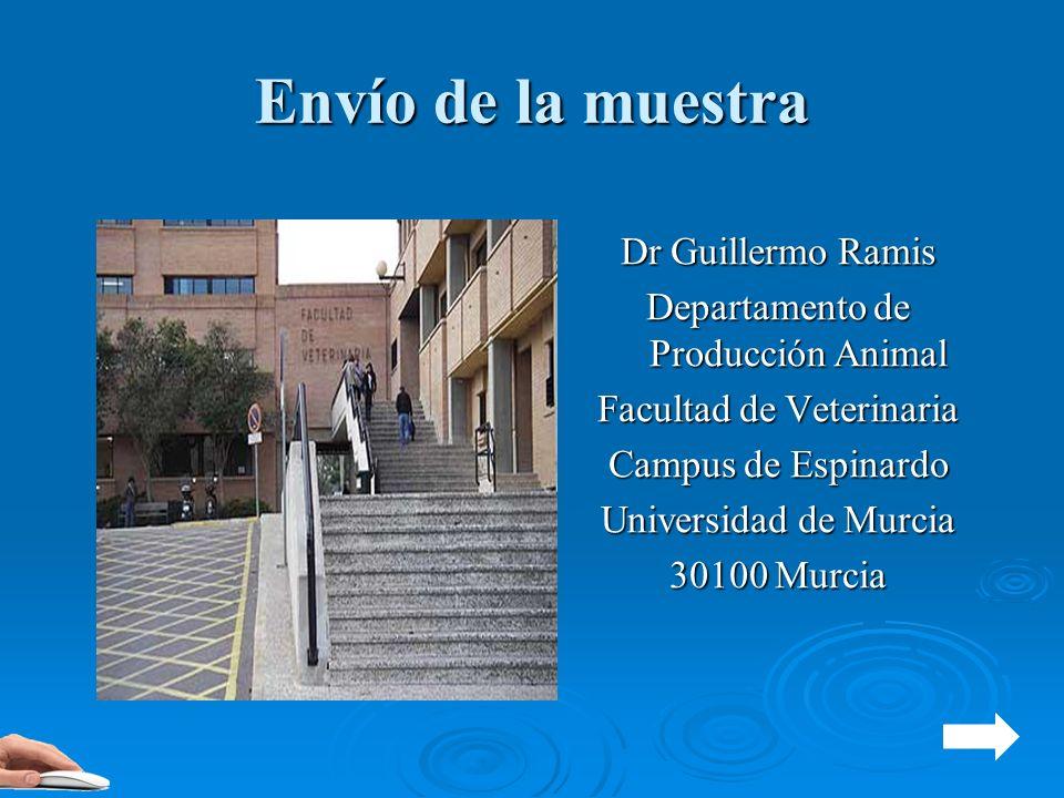 Envío de la muestra Dr Guillermo Ramis