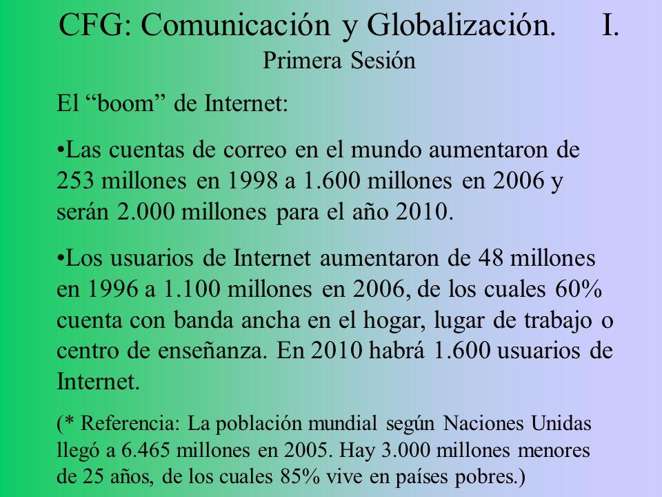 CFG: Comunicación y Globalización. I. Primera Sesión