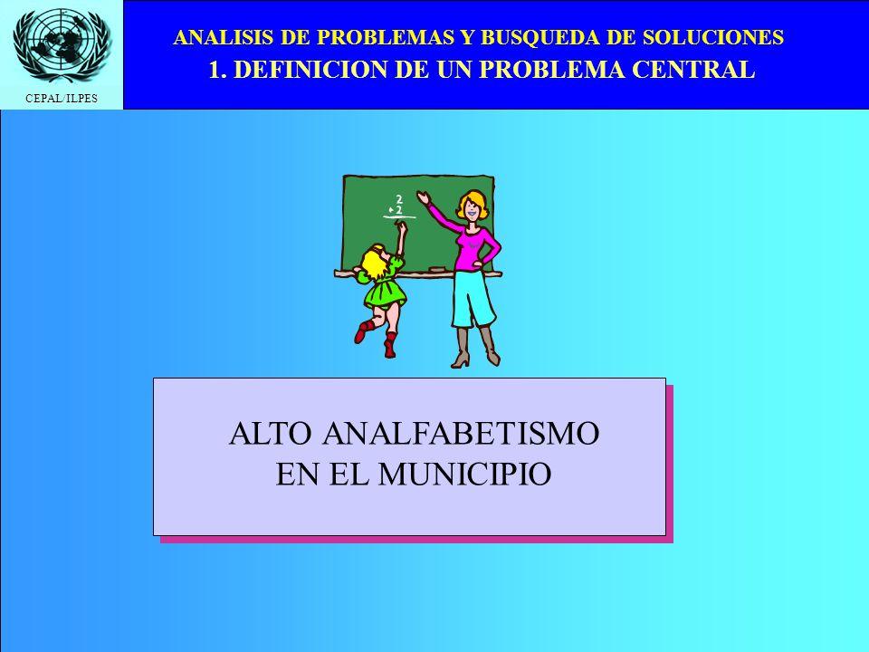 ALTO ANALFABETISMO EN EL MUNICIPIO