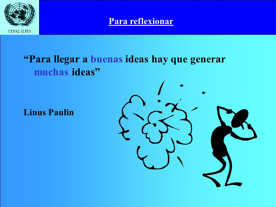 Para llegar a buenas ideas hay que generar muchas ideas
