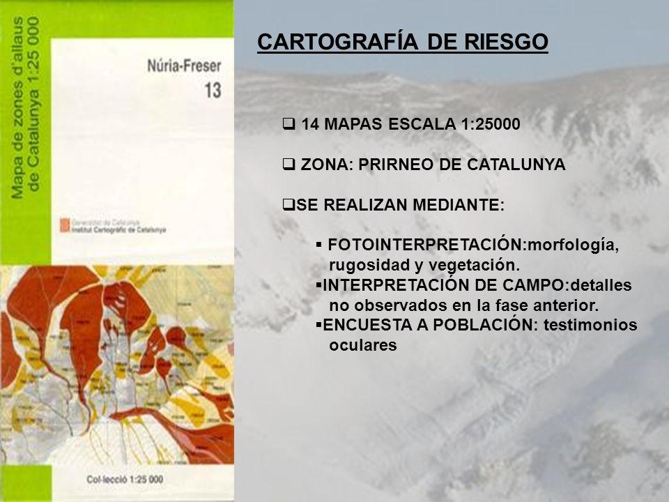 CARTOGRAFÍA DE RIESGO 14 MAPAS ESCALA 1:25000