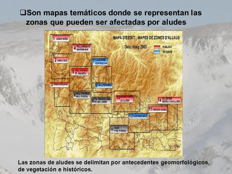 Son mapas temáticos donde se representan las